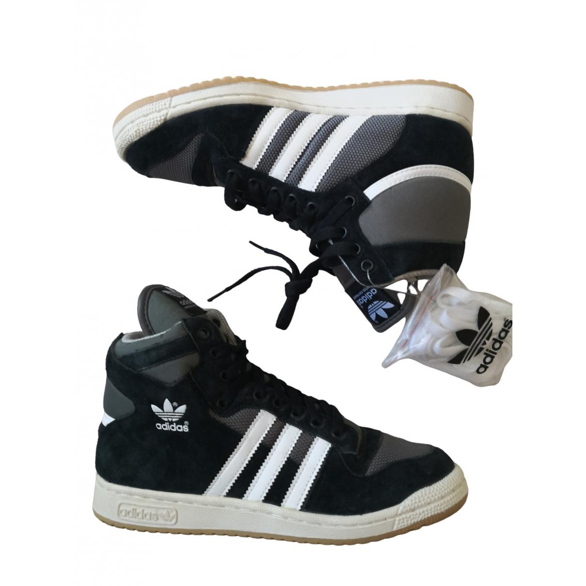 Adidas - Baskets   pour femme en toile - gris