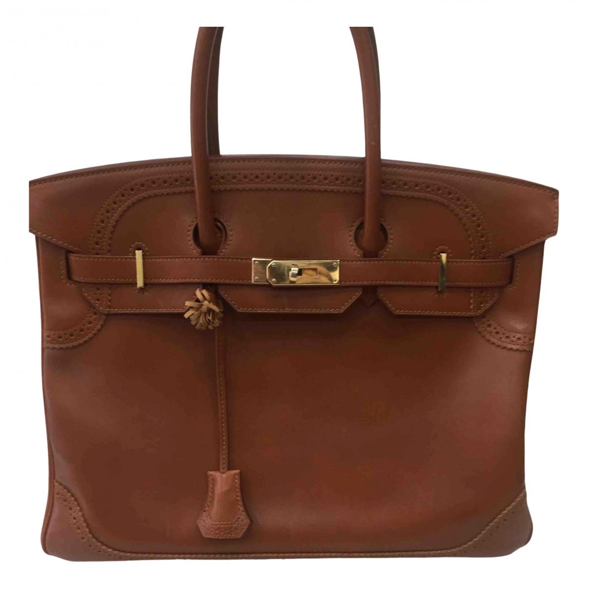 Hermes Birkin 35 Handtasche in  Kamel Leder