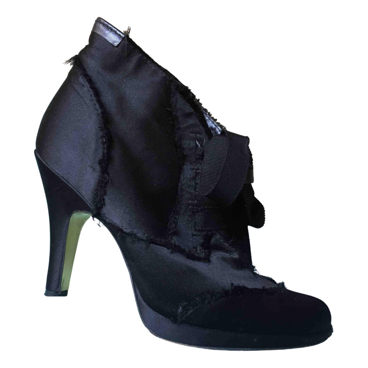 Pedro Garcia \N Black Cloth Boots for Women 36 EU