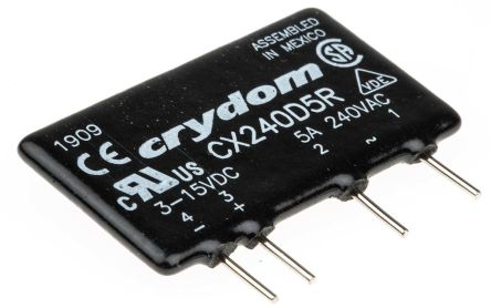 Sensata / Crydom 5 A SPST Solid State Relay, Instantaneous, PCB Mount, SCR, 280 V ac Maximum Load