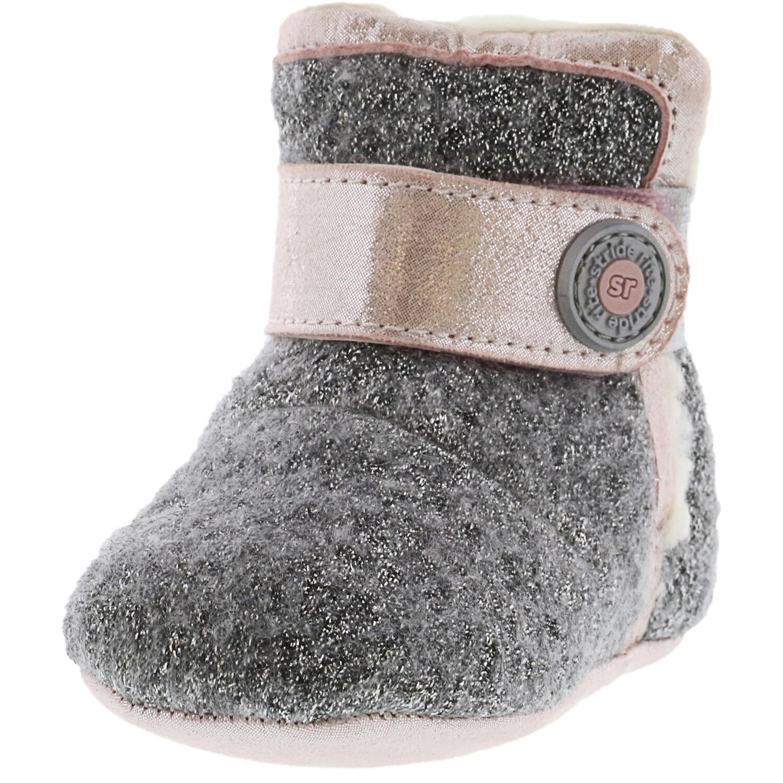 Stride Rite Girl's Sr Cozy Carmen Grey / Pink Ankle-High Wool Boot - 3M