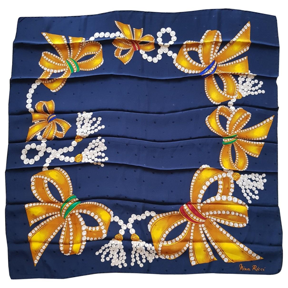 Nina Ricci \N Blue Silk Silk handkerchief for Women \N