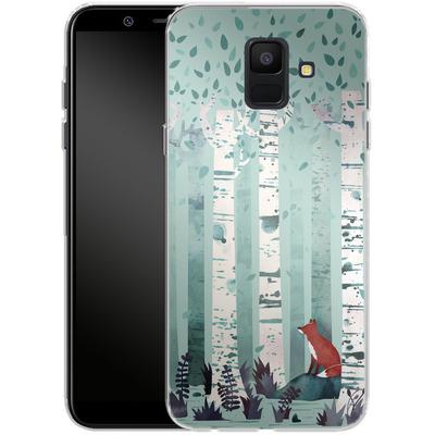 Samsung Galaxy A6 Silikon Handyhuelle - Birches von Little Clyde
