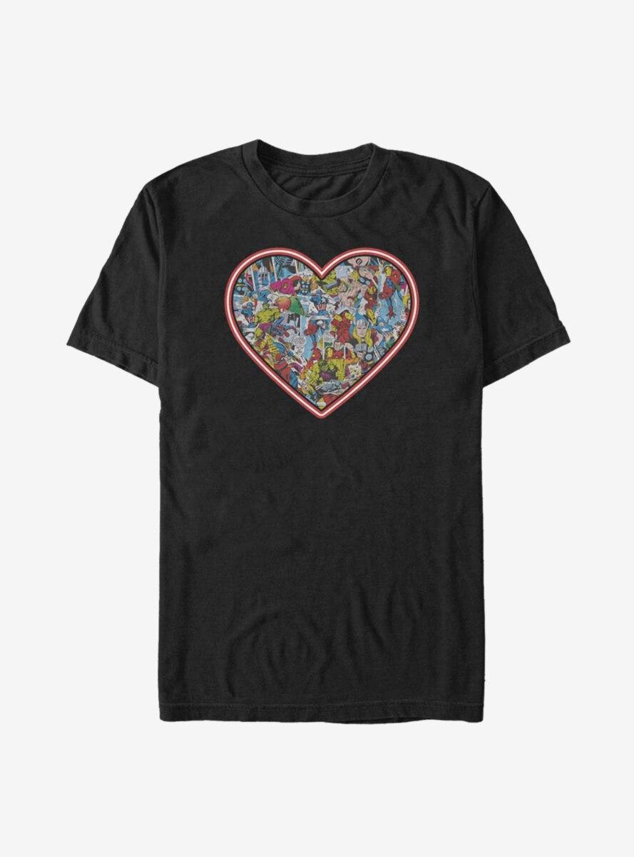 Marvel Avengers Marvel Comic Heart T-Shirt
