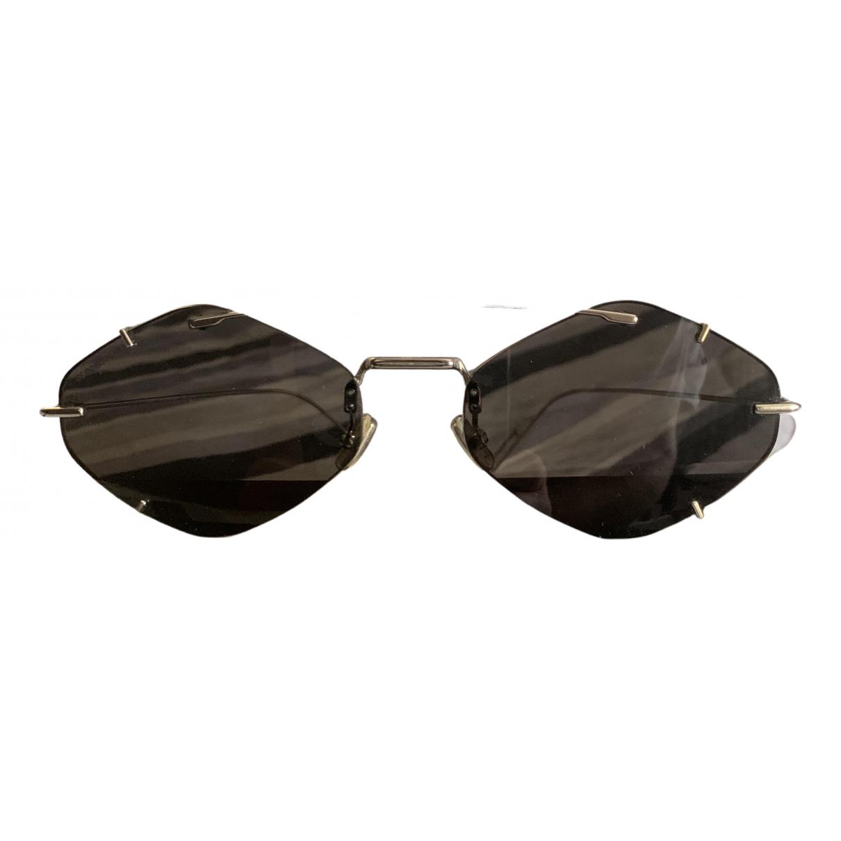 Dior Homme - Lunettes   pour homme en metal - dore