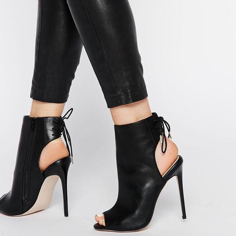 Ericdress Peep Toe Cross Strap Heel Sandals