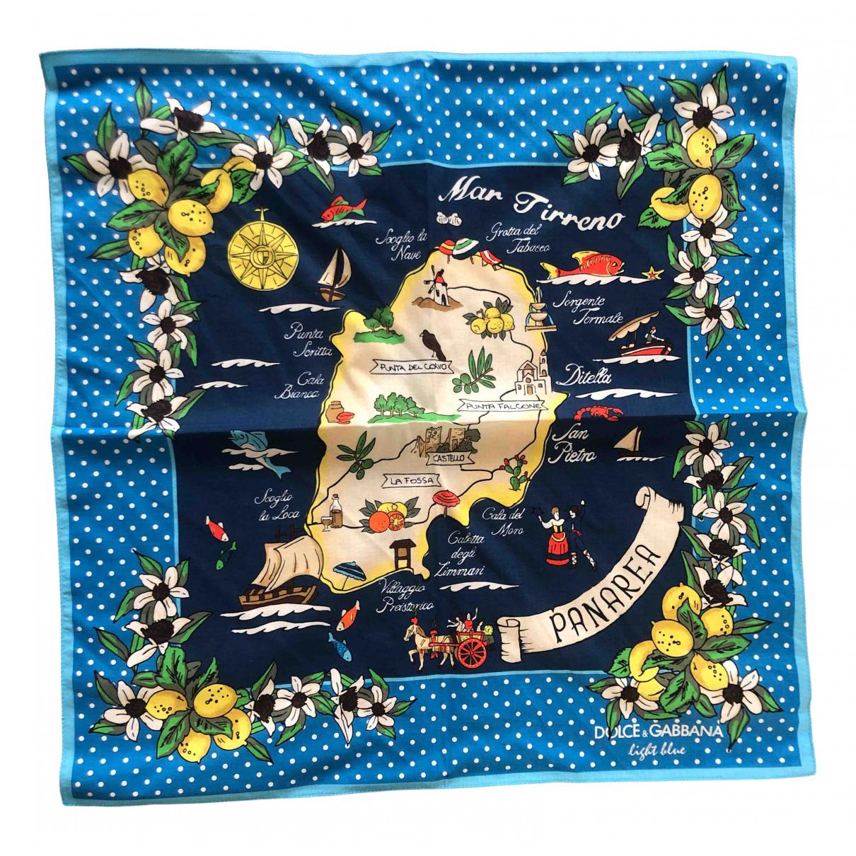 Dolce & Gabbana - Foulard   pour femme en coton - bleu