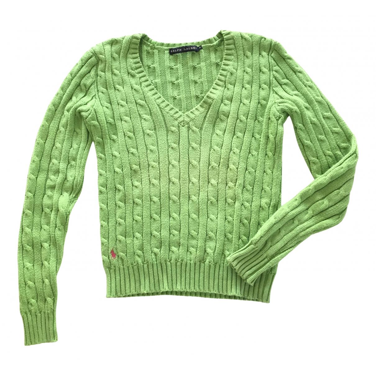 Ralph Lauren - Pull   pour femme en coton - vert