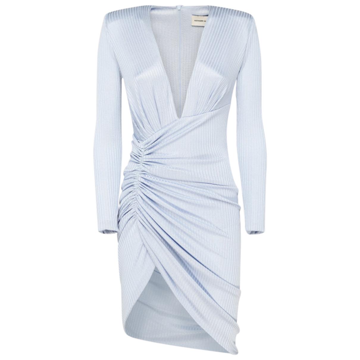 Alexandre Vauthier \N Kleid in  Blau Polyester