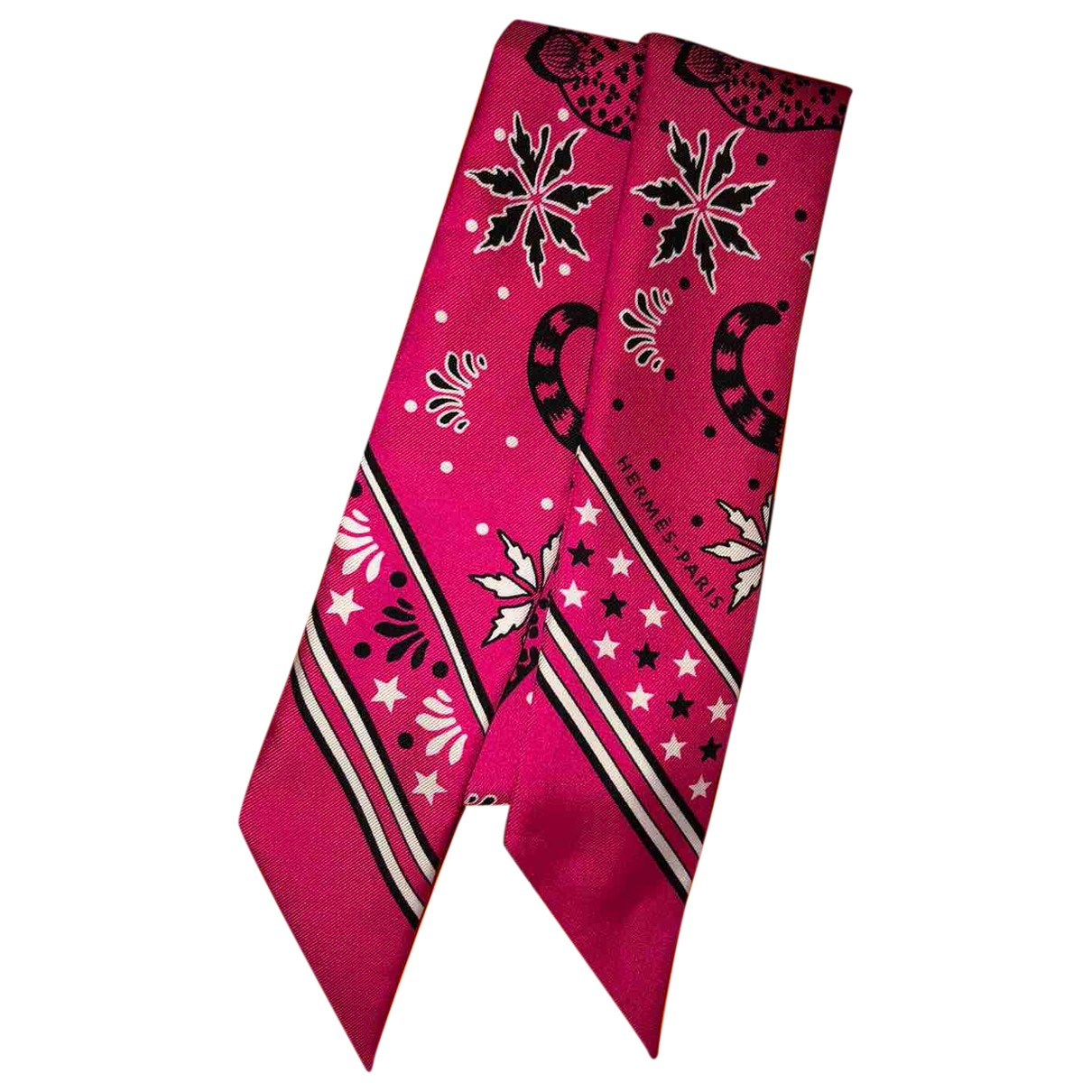 Hermès Twilly 86 Pink Silk scarf for Women N