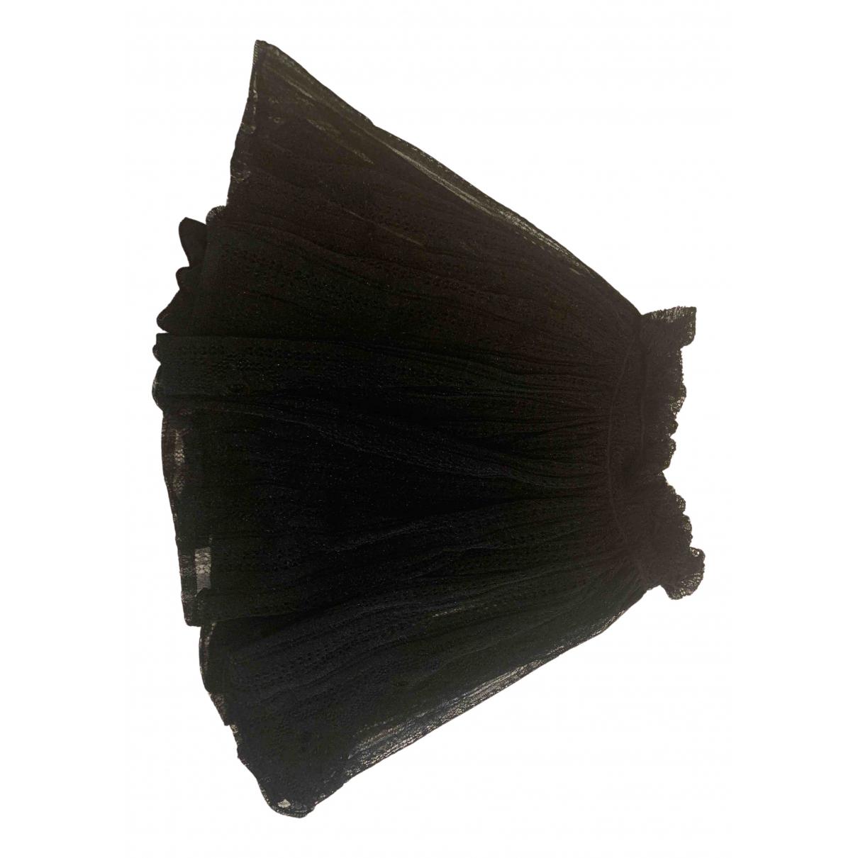 Alexander Mcqueen - Jupe   pour femme en soie - noir