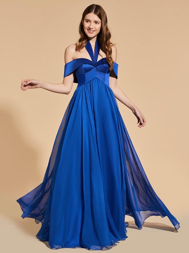 Ericdress A Line Halter Off The Shoulder Long Prom Dress