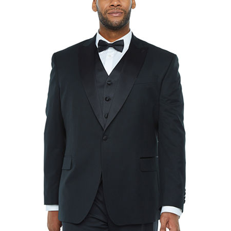 Stafford Travel Mens Regular Fit Tuxedo Jacket - Big and Tall, 54 Big Short, Black