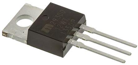 Microchip MIC29300-12WT, LDO Regulator, 3A, 12 V, ±1% 3-Pin, TO-220 (2)