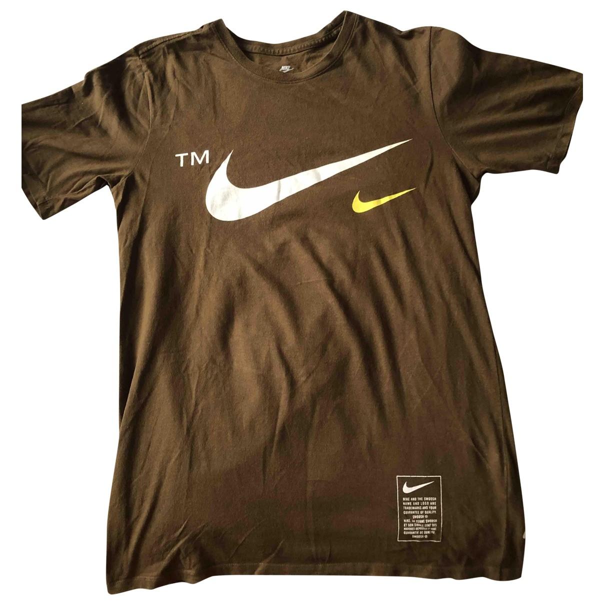 Nike - Top   pour femme en coton - marron