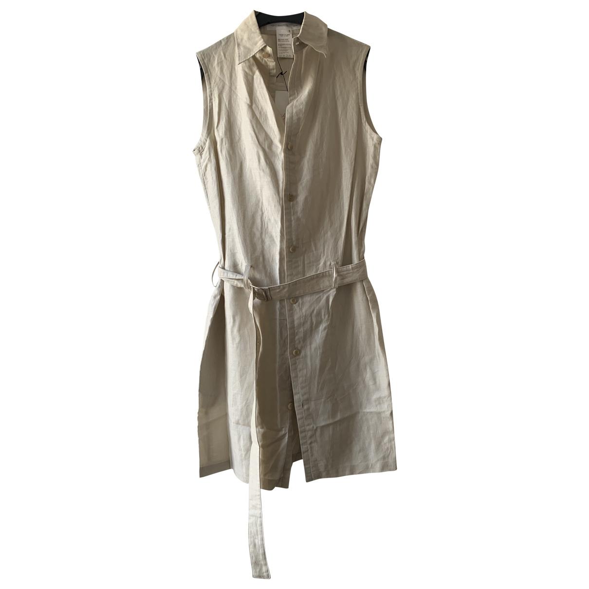 Yohji Yamamoto - Robe   pour femme en coton - beige