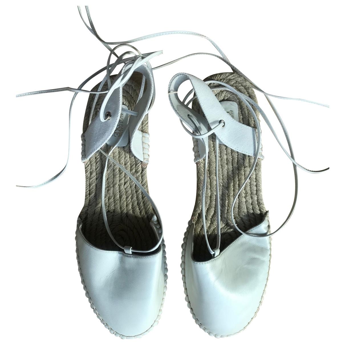 Australia Luxe - Espadrilles   pour femme en cuir - blanc