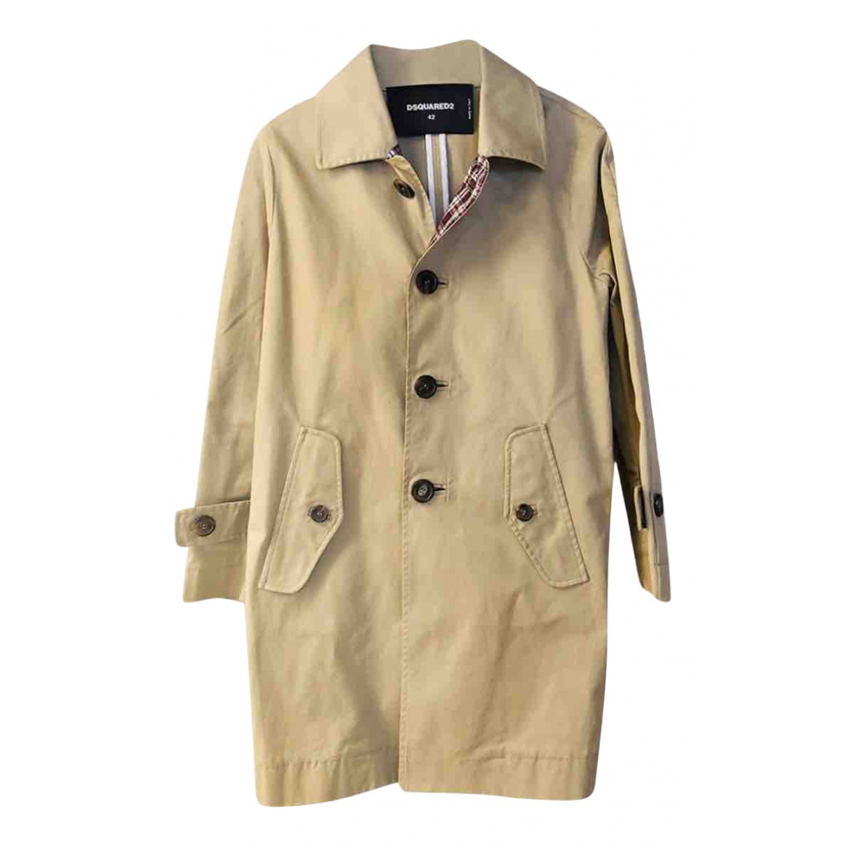Dsquared2 \N Trench in  Beige Baumwolle