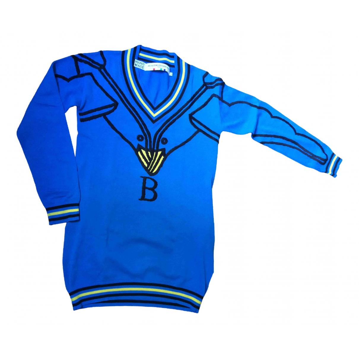 Jc De Castelbajac \N Kleid in  Blau Baumwolle