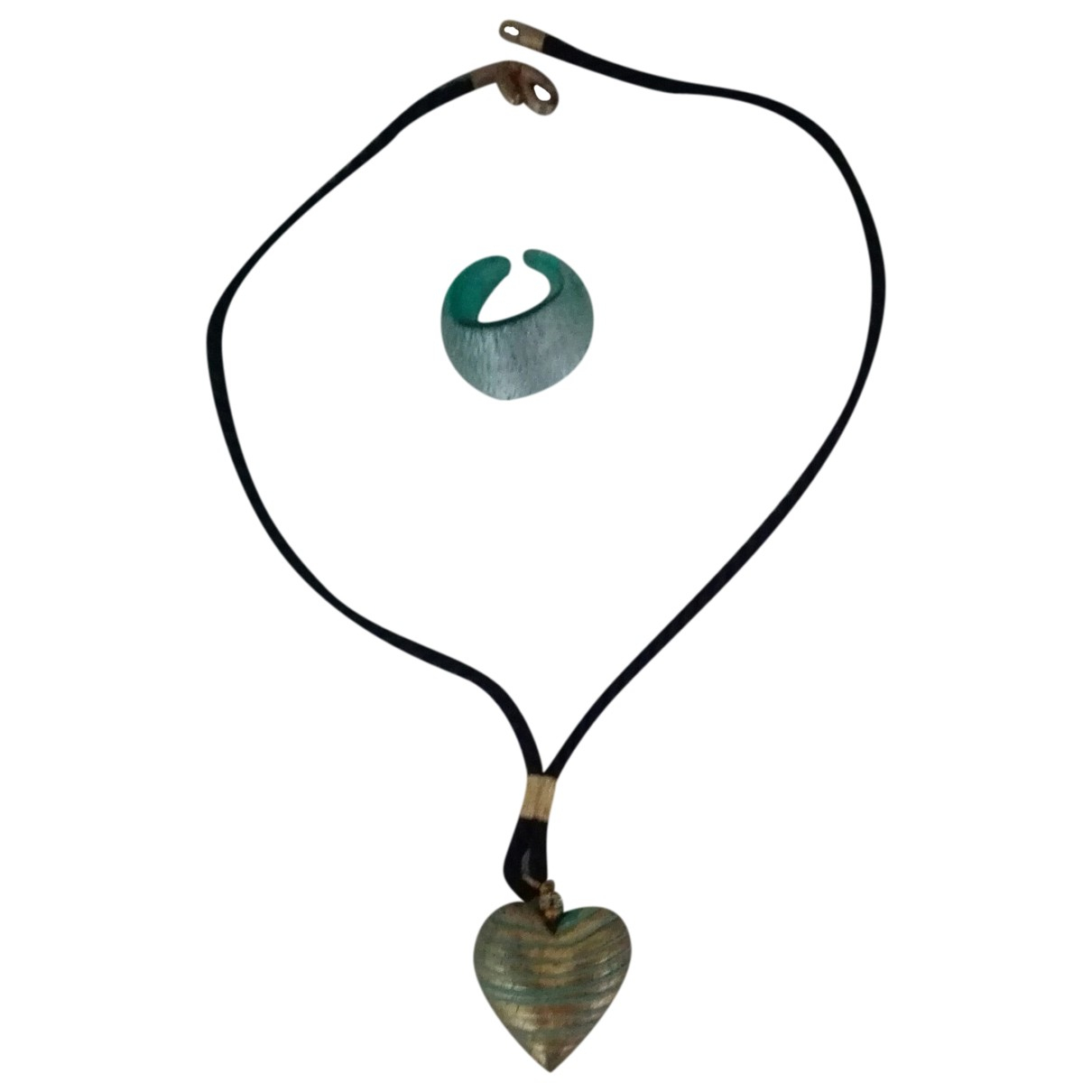 - Parure Motifs Coeurs pour femme en verre - vert