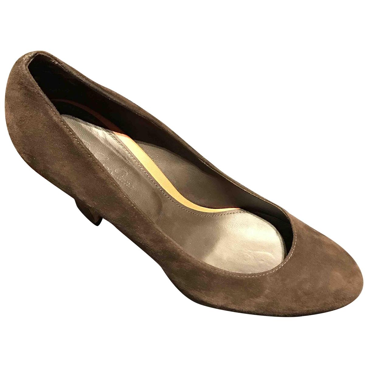 Loro Piana - Escarpins   pour femme en suede - gris