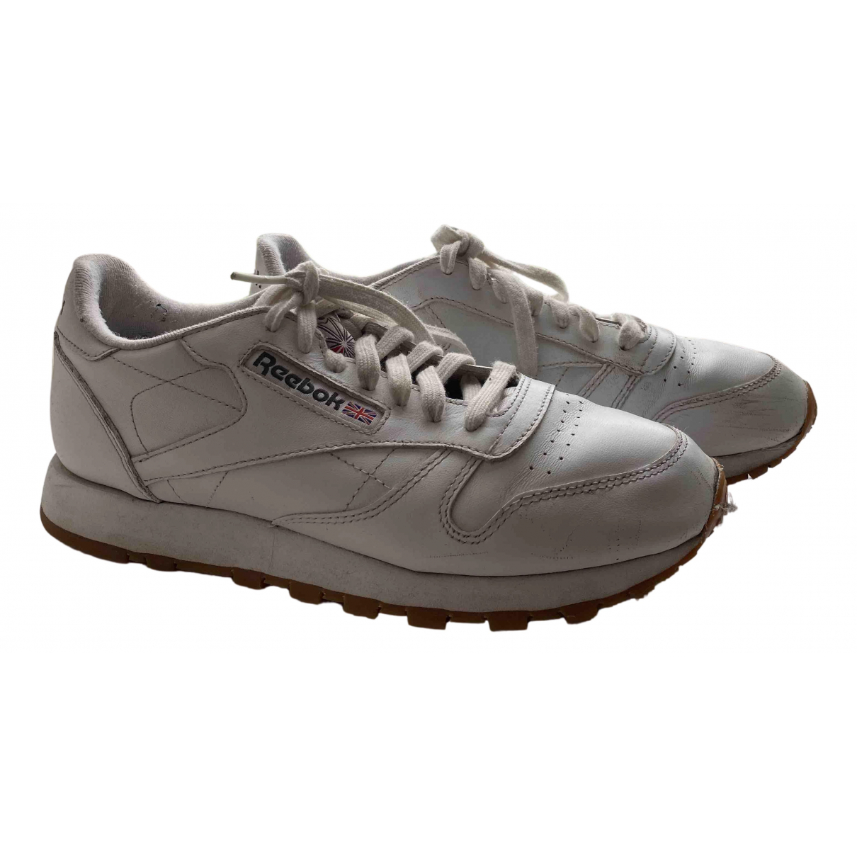 Reebok \N Sneakers in  Weiss Leder