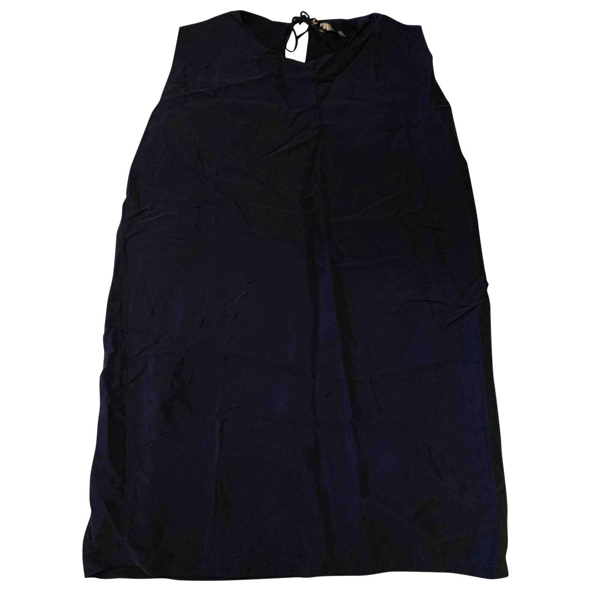 Suncoo \N Kleid in  Blau Seide