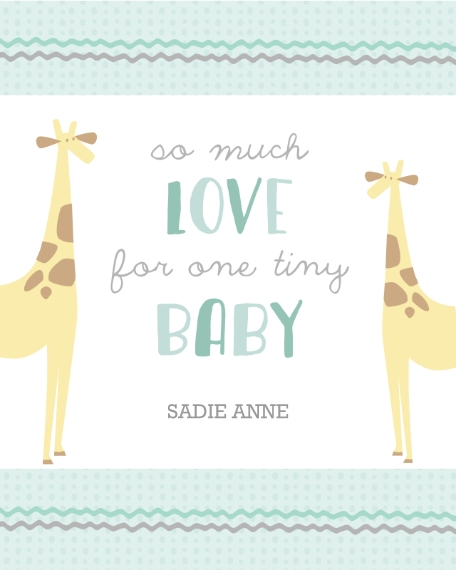 Baby + Kids 16x20 Adhesive Poster, Home Décor -Menagerie