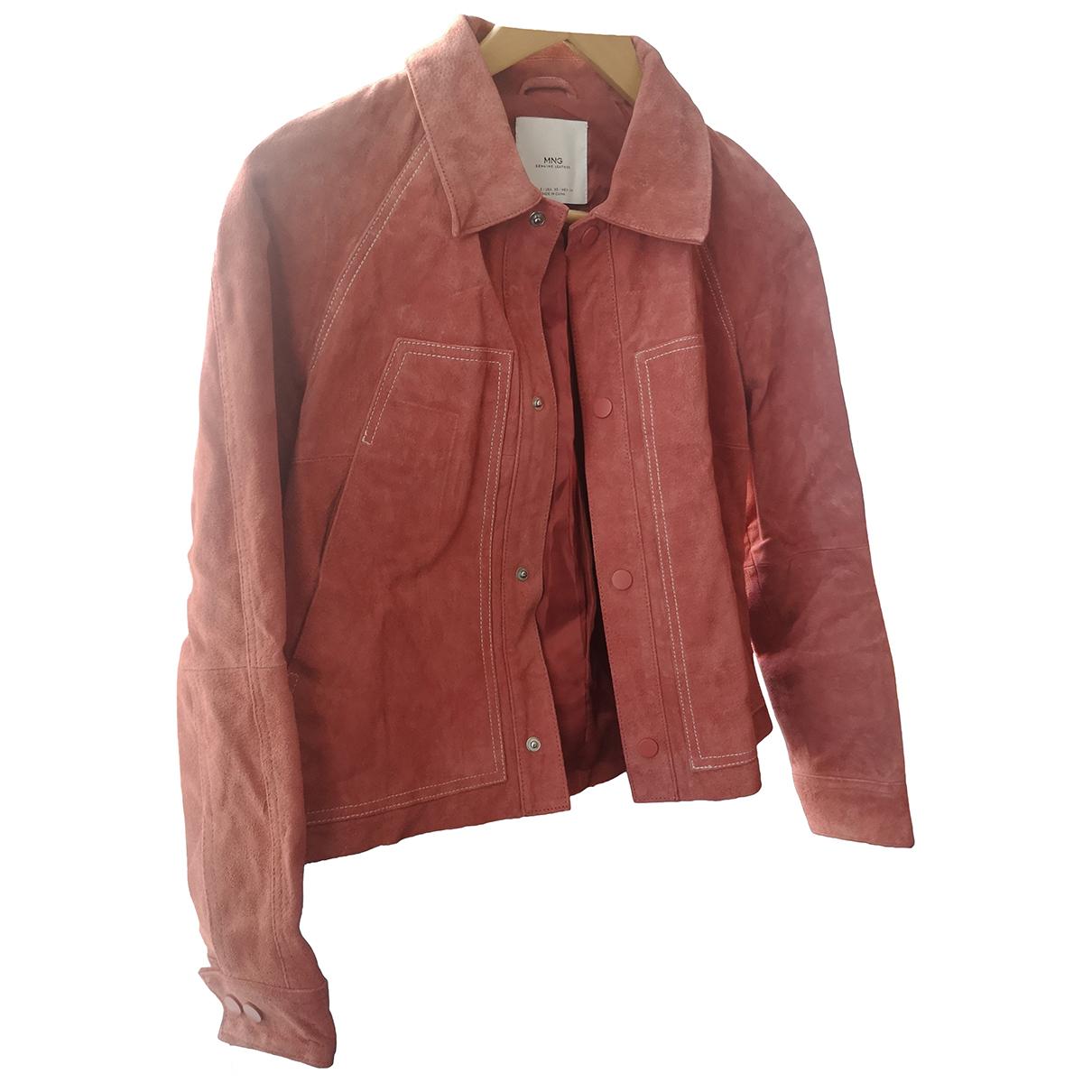 Mango - Veste   pour femme en cuir - rose
