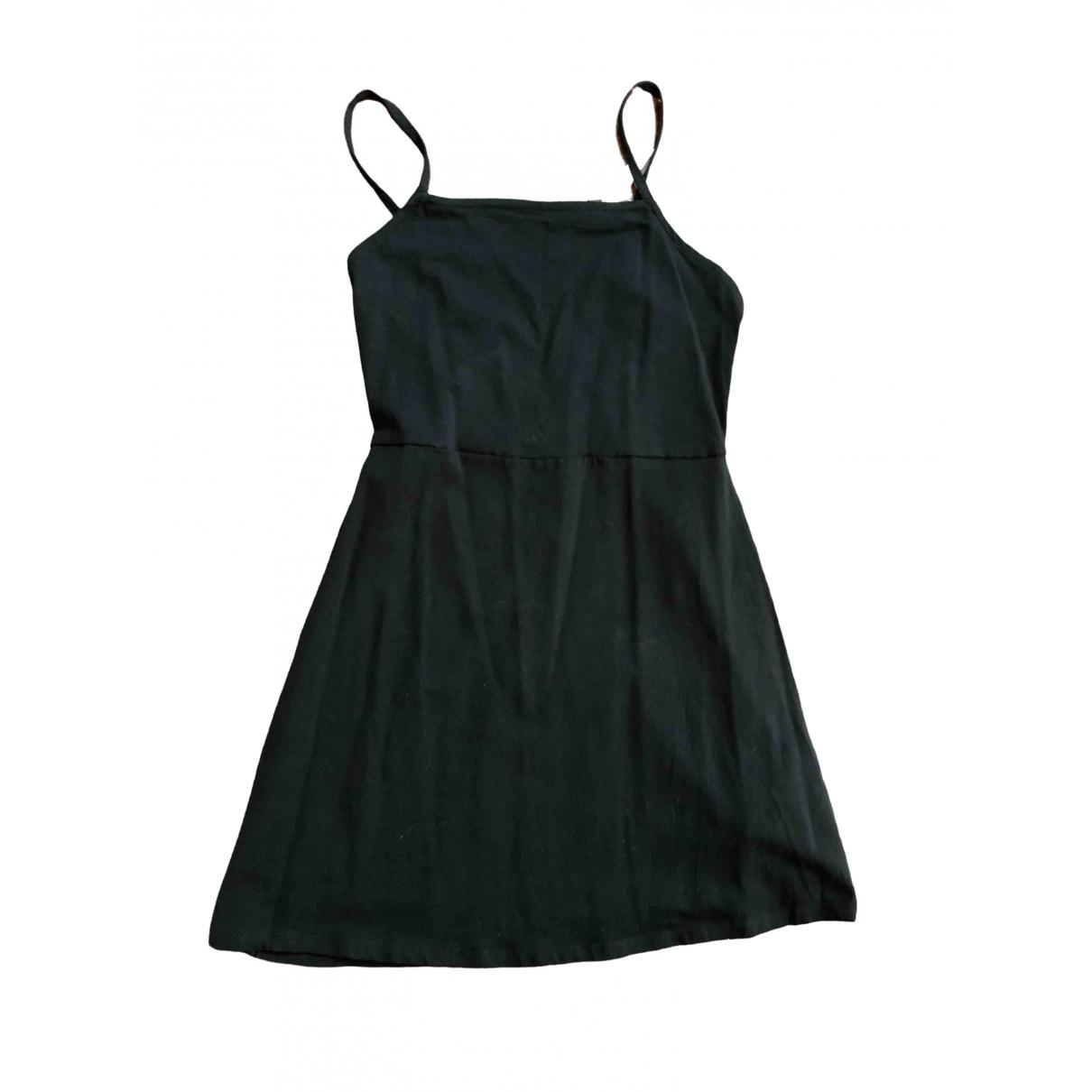 Asos \N Kleid in  Schwarz Baumwolle - Elasthan