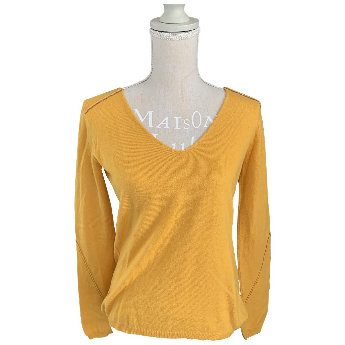 Berenice - Pull   pour femme en laine - jaune