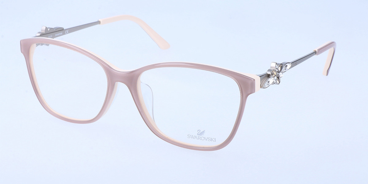 Swarovski SK5120F Asian Fit 059 Women's Glasses Brown Size 56 - Free Lenses - HSA/FSA Insurance - Blue Light Block Available