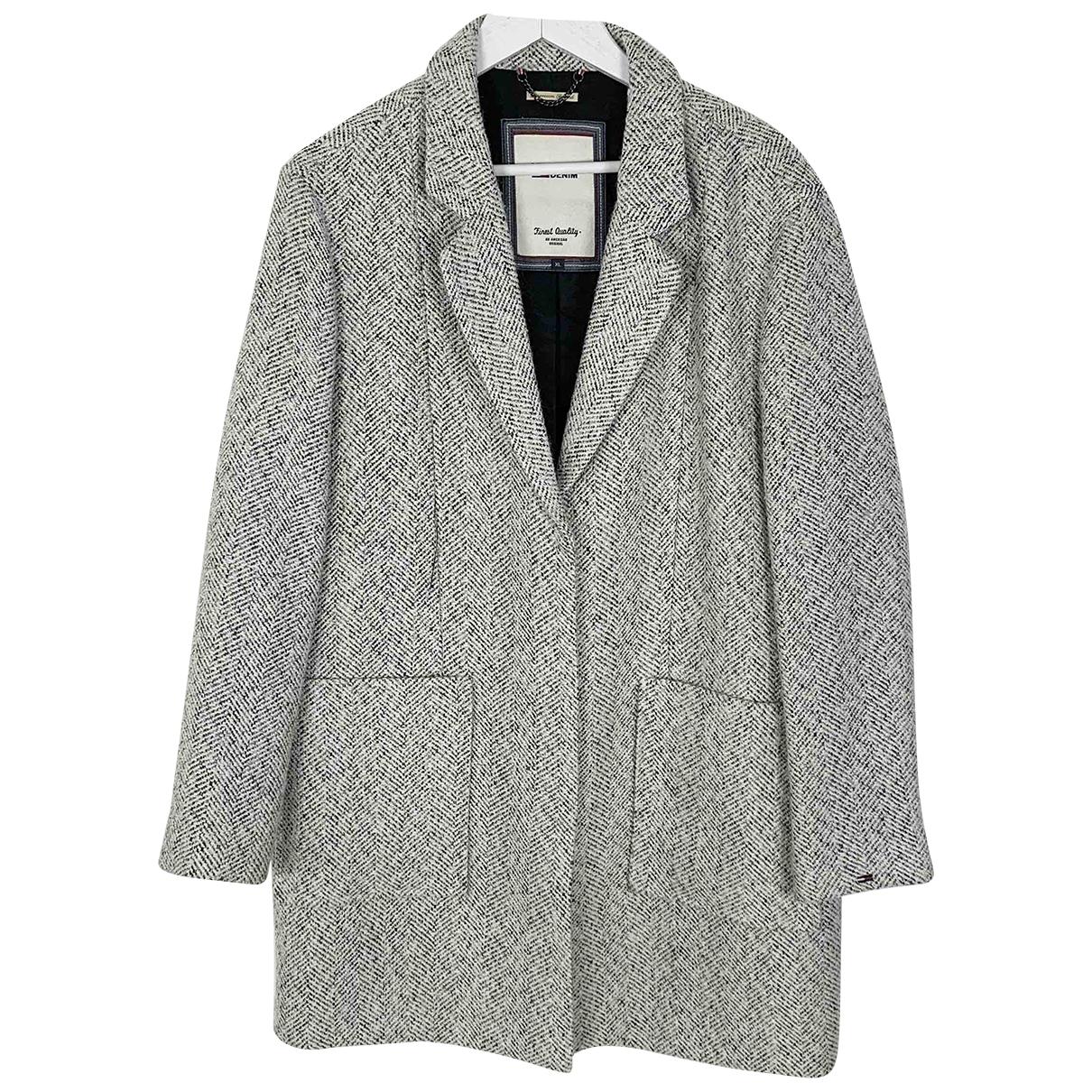Tommy Hilfiger - Manteau   pour femme en laine - blanc