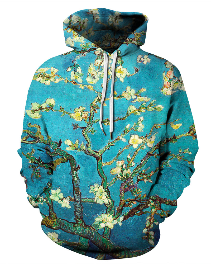 Pullover Unisex Lightweight Casual Style Athletic 3D Painted Hoodie