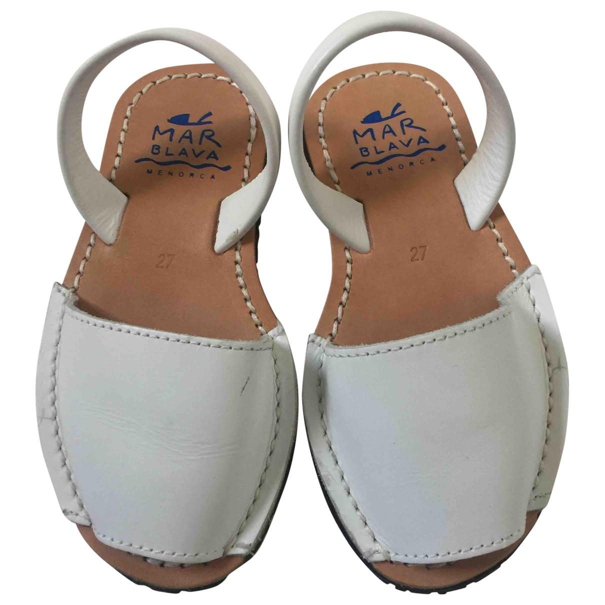 - Sandales   pour enfant en cuir - blanc