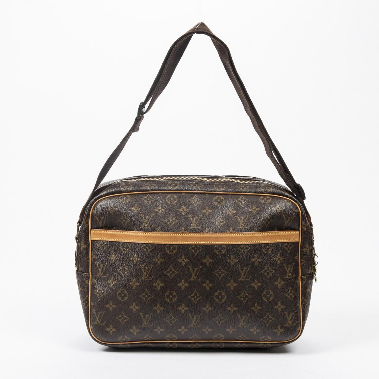 Louis Vuitton Reporter Brown Cotton handbag for Women \N