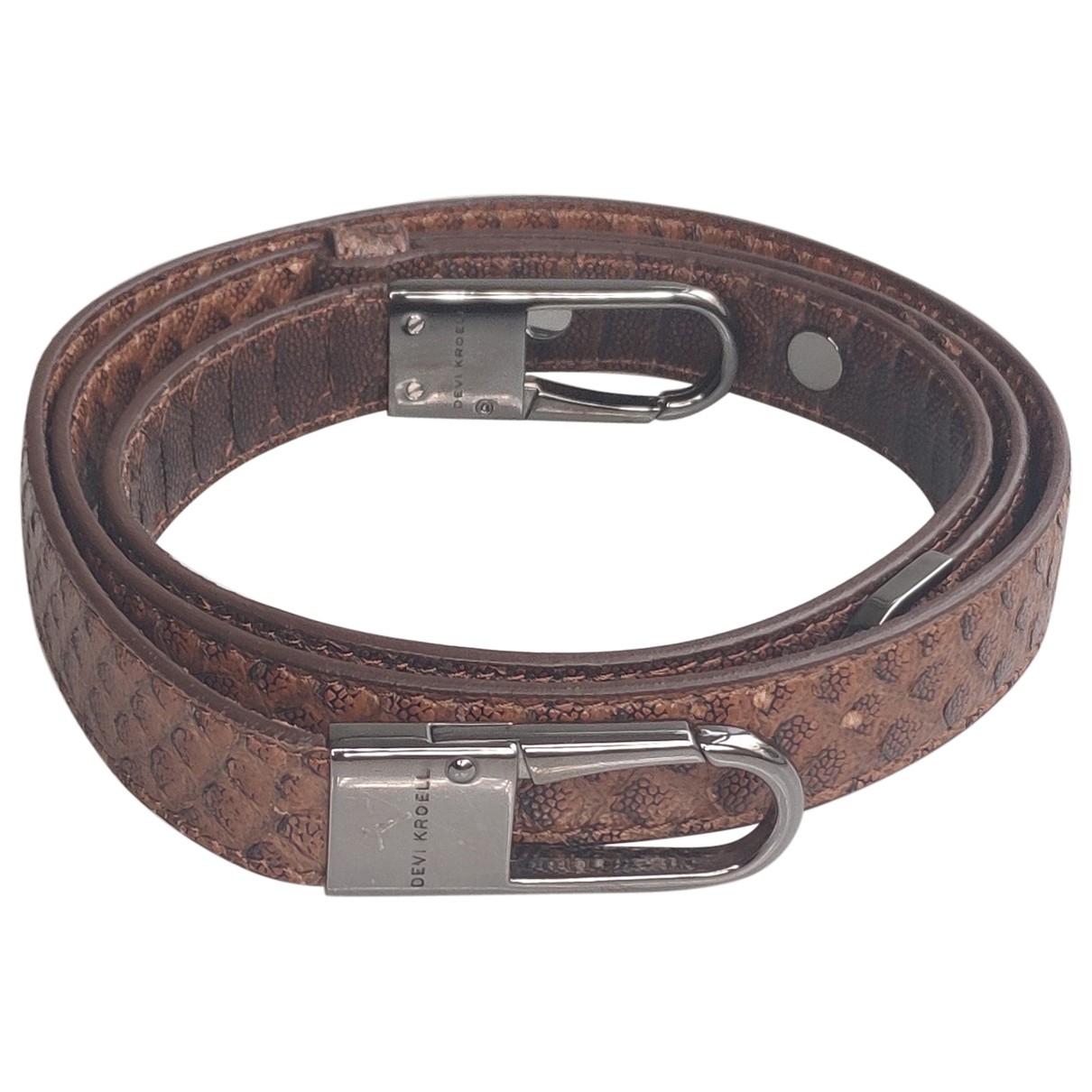 Cinturon de Cueros exoticos Devi Kroell