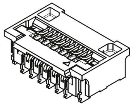 Molex Easy-On 502078 Series 0.25mm Pitch 25 Way Right Angle SMT Female FPC Connector, Bottom Contact (5)