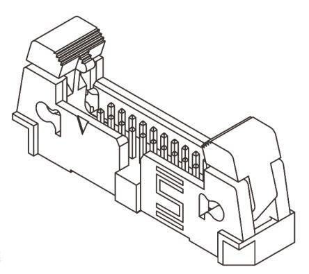 Samtec , EHT, 50 Way, 2 Row, Straight PCB Header