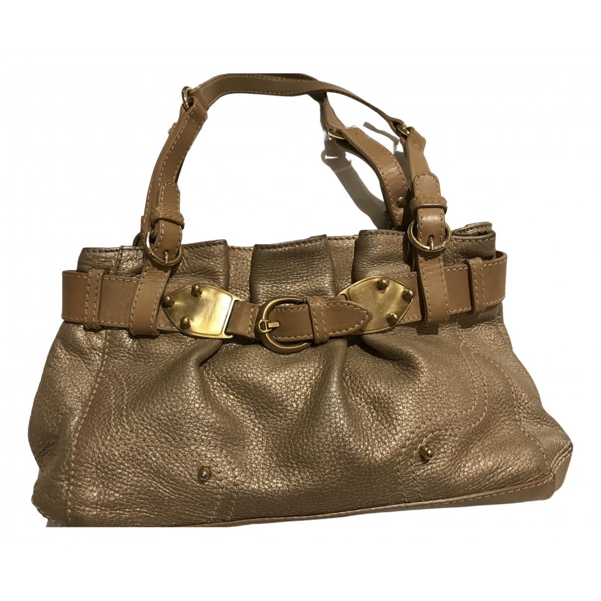 Aigner \N Handtasche in  Gold Leder