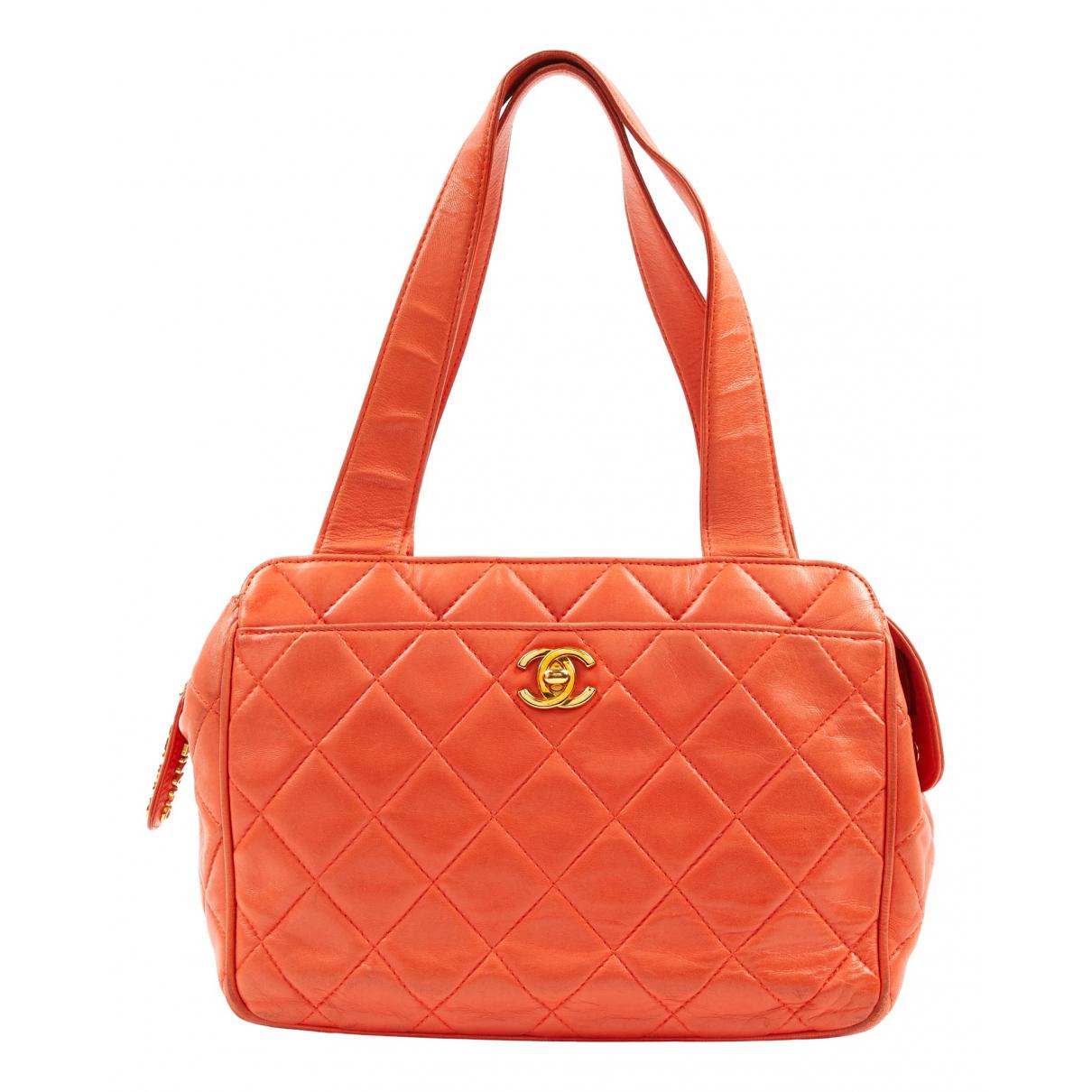 Chanel N Orange Leather handbag for Women N