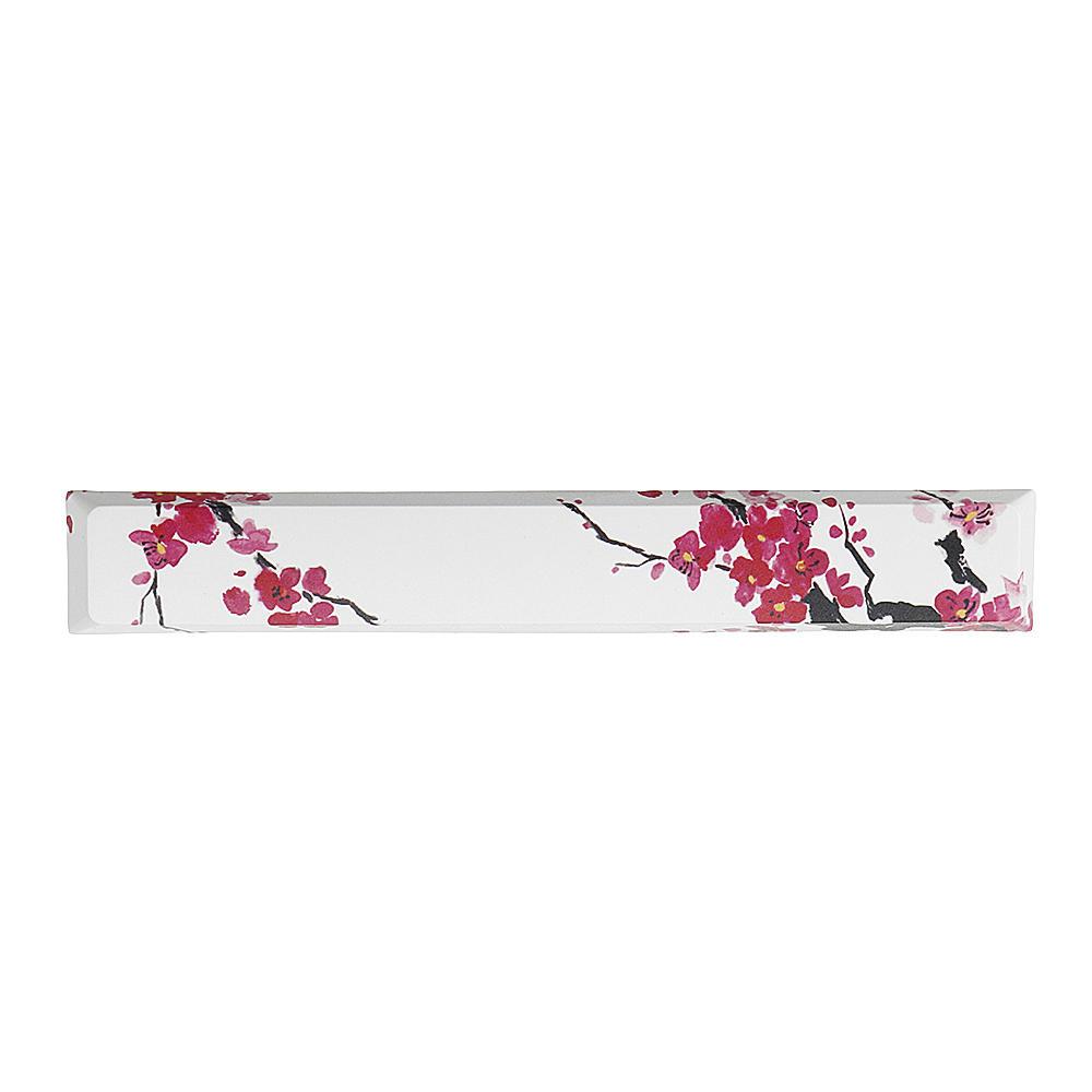 Five-sided Dyesub PBT Plum Blossom Space Bar 6.25u Novelty Keycap