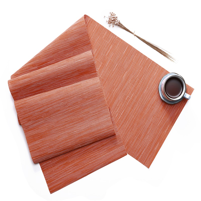 Rectangle Shape Home Decorative Plastic Material Heat Insulation Table Placemat