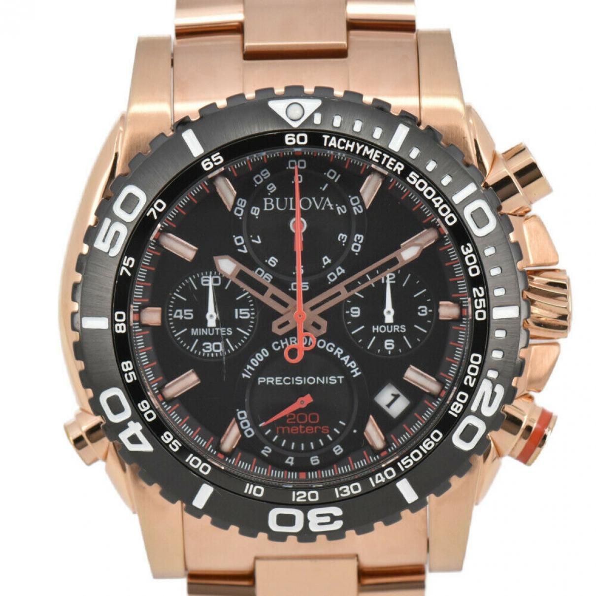 Bulova \N Black Gold plated watch for Men \N