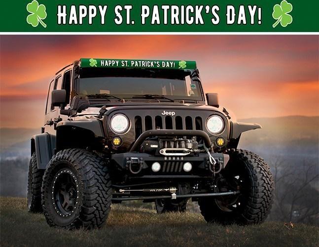 AeroLidz STPATGRN52 LED Light Bar Cover Insert Happy St Patricks Day Green Shamrocks 52 Inch
