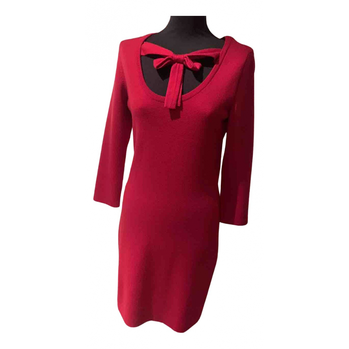 Moschino - Robe   pour femme en laine - rouge
