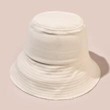 Simple Solid Bucket Hat