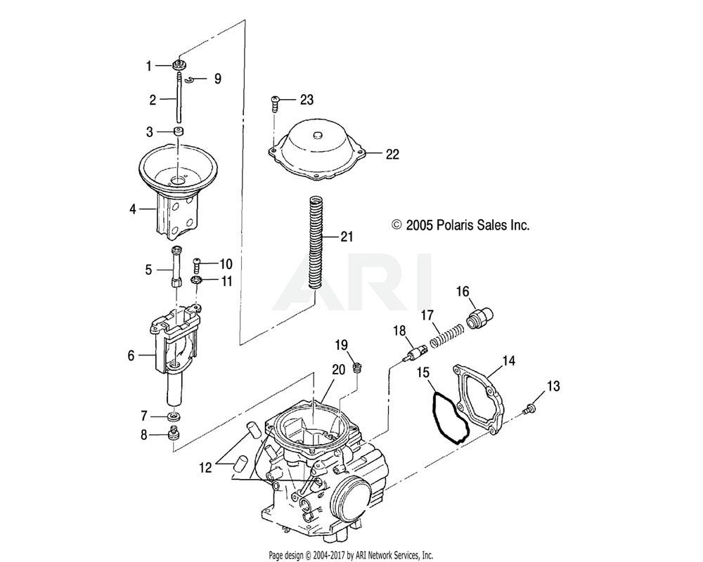 Polaris OEM 1203060 Asm., Carburetor   [Incl. 1-12]