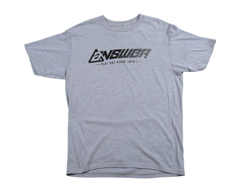 Answer 445067 Flatout T-Shirt Heather Gray LG
