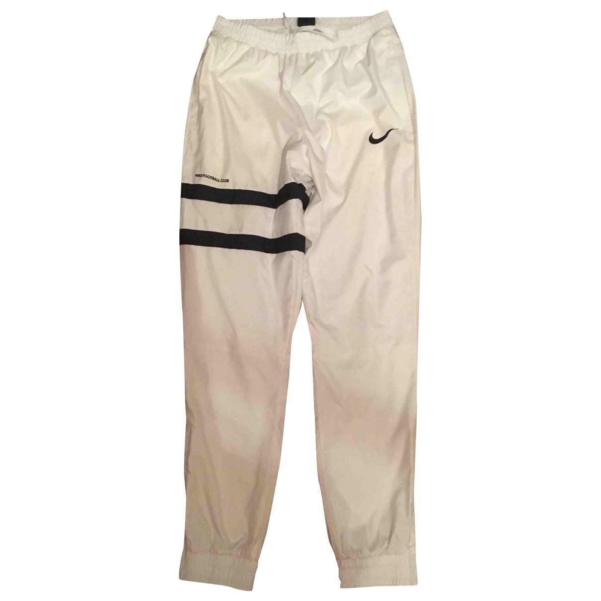 Pantalon en Poliester Blanco Nike